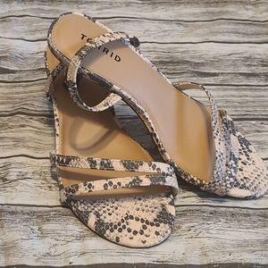 Torrid snake print  kitten heels